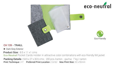 Eco-neutral Traill Cards Holder - Light Grey
