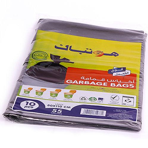 Hotpack-garbage bag 80*110cm-heavy duty-55 gallon 10pcs