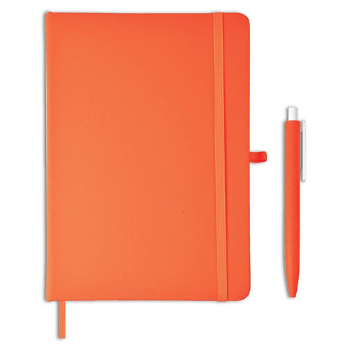 Giftology Libellet A5 Notebook With Pen Set (Orange)