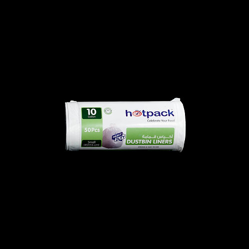 Hotpack Dustbin Liners White Roll  45x55 cm -50 Pcs-10Gallon