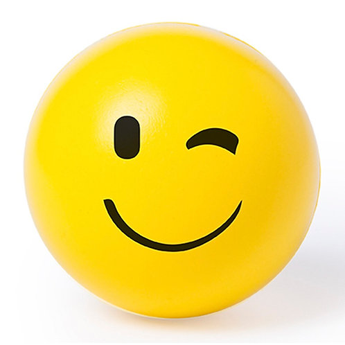 Soft Anti-stress Ball With Fun Emoji Designs - Wink