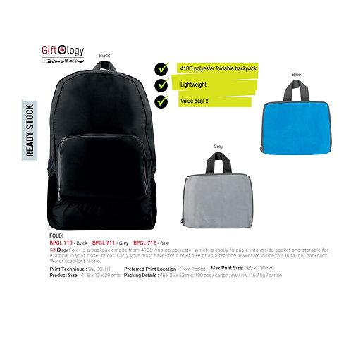 Foldi, Foldable Backpack-Grey