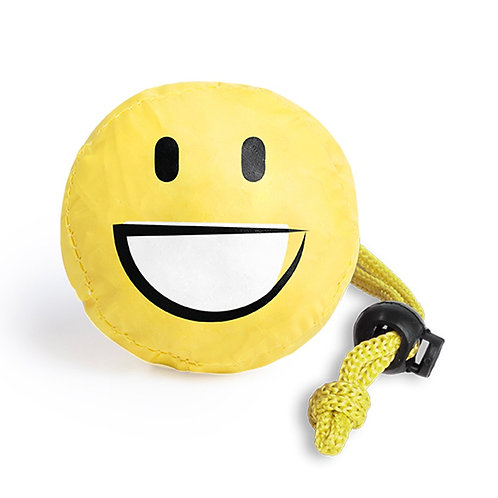Folding Bag With Fun Emoji Designs - Smile