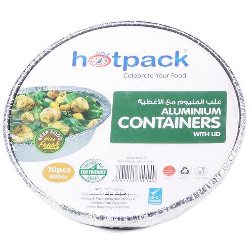 Hotpack- Aluminum Round container 800cc 10pcs