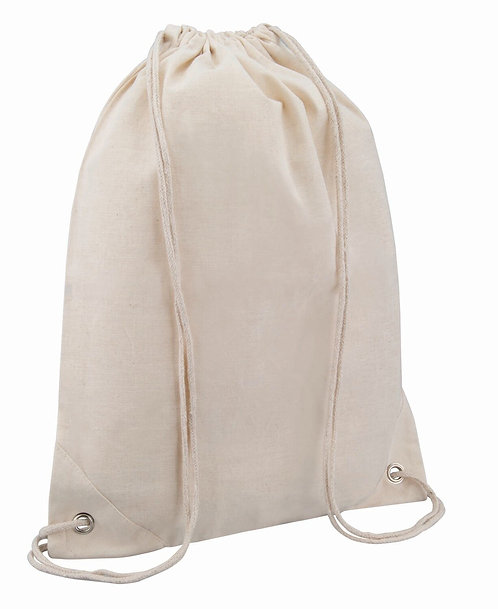 Eco Friendly Cotton Draw String Bags-Natural
