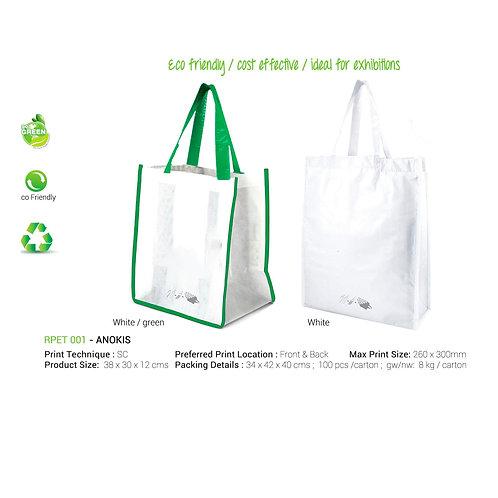 Anokis RPET Shopping Bags White