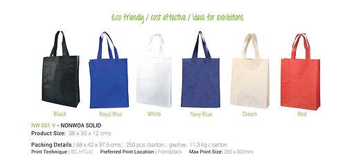 Non-Woven Shopping Bag Vertical Nvay Blue