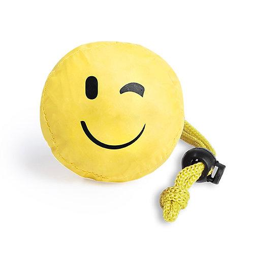 Folding Bag With Fun Emoji Designs - Wink
