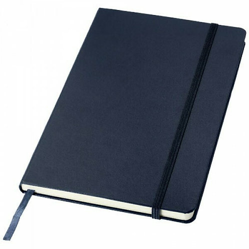Santhome Bukh Hardcover A5 Ruled PVC Notebook Navy Blue