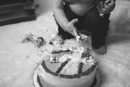 MATTHIAS'S MONSTER'S INC CAKE SMASH | SACRAMENTO FAMILY AND CHILDREN PHOTOGRAPHER