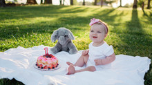 Ellie's 1 Year Cake Smash | Northern California Belly to Baby Photographer