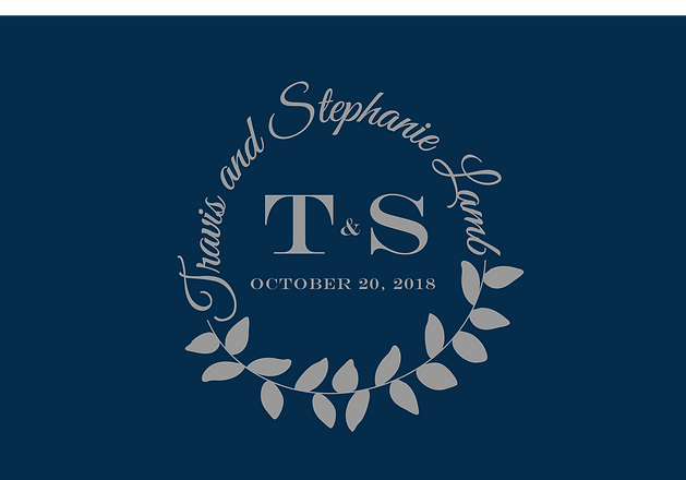 Wedding Logo in Silver with Navy- Edited