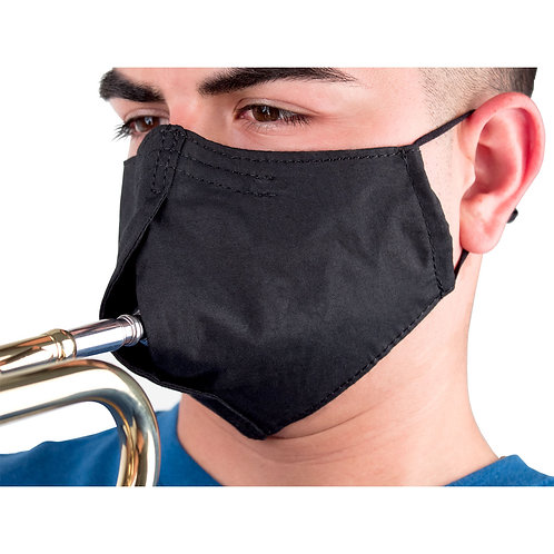 Face mask for wind instruments