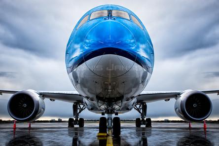 KLM Dreamliner at Schiphol Airport