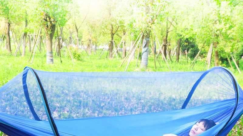 2 Person Portable Outdoor Mosquito Net 260x150cm Parachute Hammock