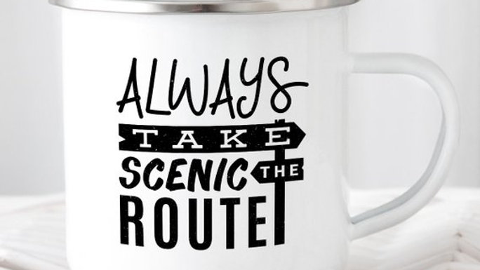 Always Take The Scenic Route Mug