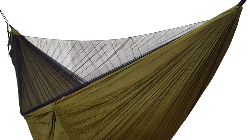Easy Set Up Mosquito Net Double Hammock   290*140cm With Wind pegs