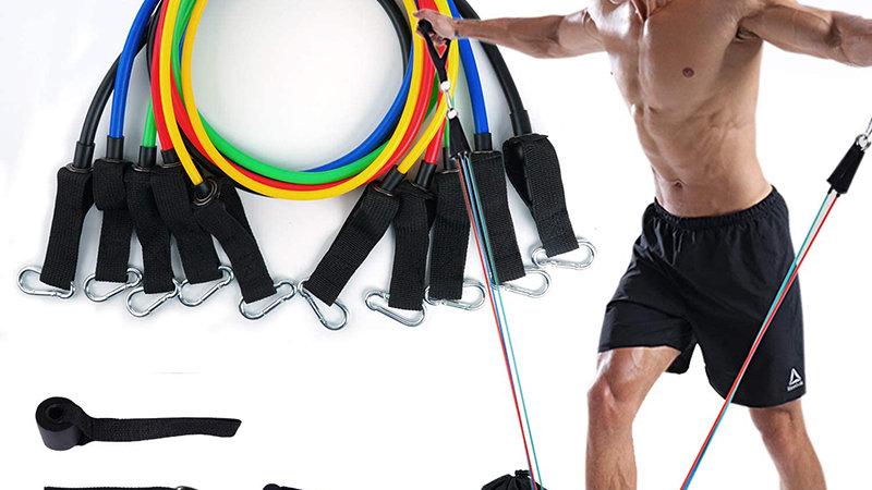11Pcs Fitness Equipment Resistance Band Set