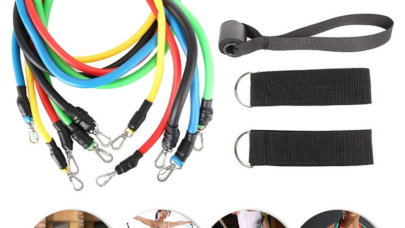 11Pcs Resistance Bands Set Fitness Equipment