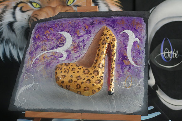 """#029 """" Shoe Series"""" On Marble Stone"""