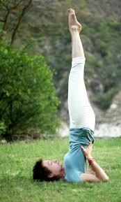 kundalini yoga, posture chandelle