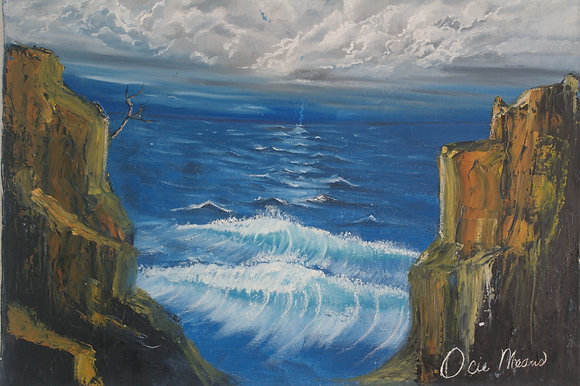 """#035 """"Waves Without Wind"""" original oil on canvas"""