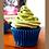 Thumbnail: Green Matcha Cupcakes - Natural Food Colouring, Personalised Gift for foodie. Gi
