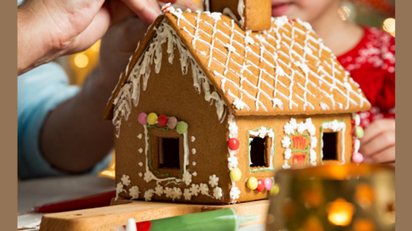 Gingerbread House DIY Kit - make and decorate from scratch. Personalised Christm