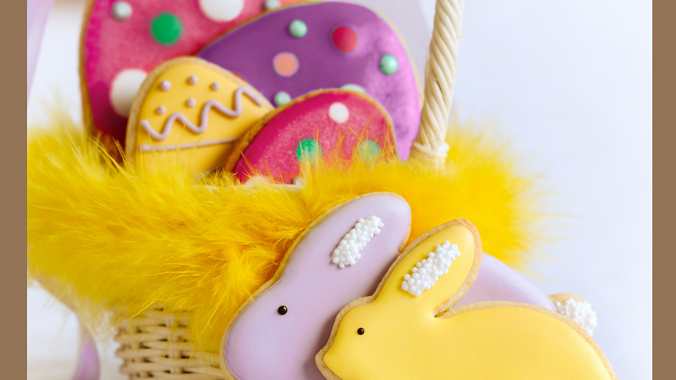 Easter Bunny Cookies DIY Kit - Make and Decorate from scratch.