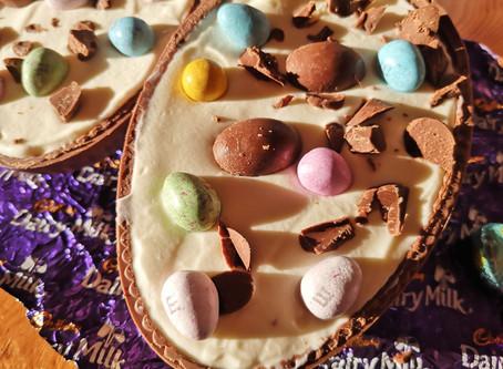 Easter Egg No Bake Vanilla Cheesecake