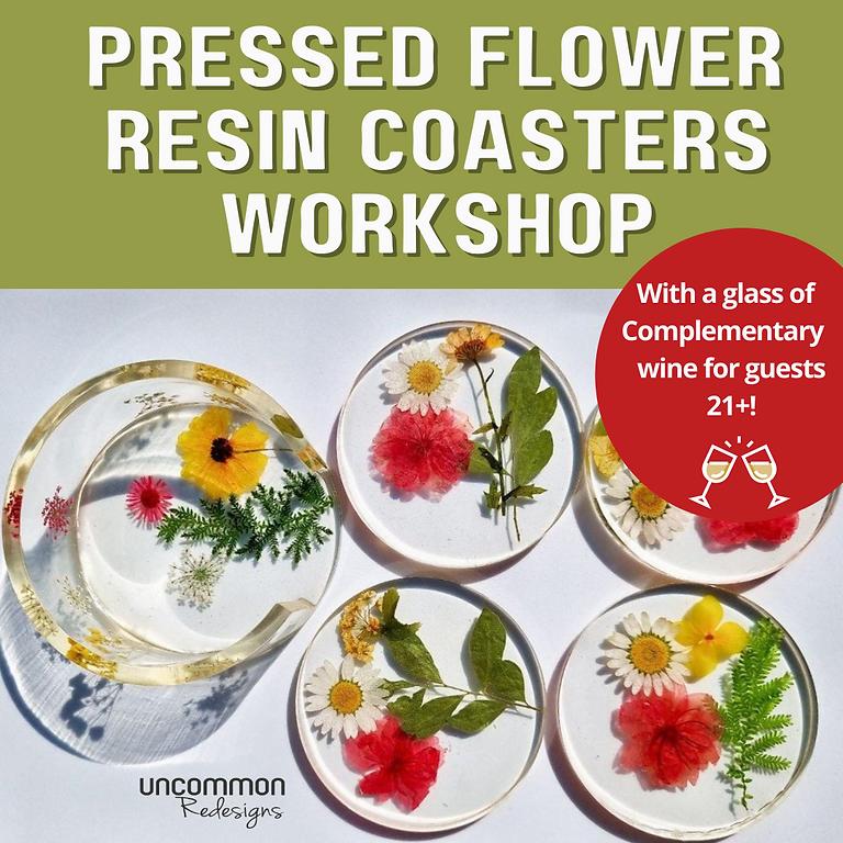 Pressed Flower Resin Coasters