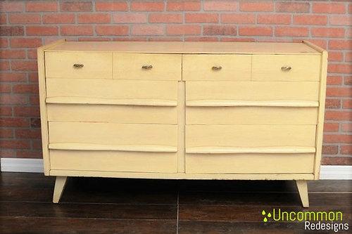 Blonde Mid Century Modern Permanized Mengel Dresser
