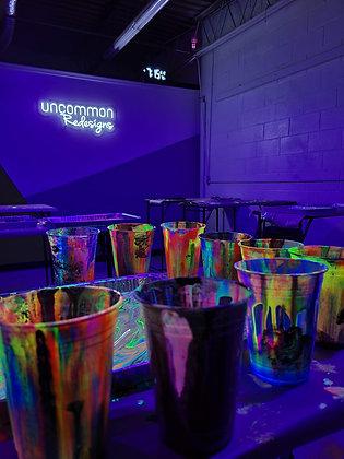 Jazmin's Neon GLOW Painting Workshop 3/12 at 6:30p