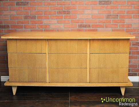 1950's American of Martinsville Nine Drawer Bamboo Dresser Mid Century