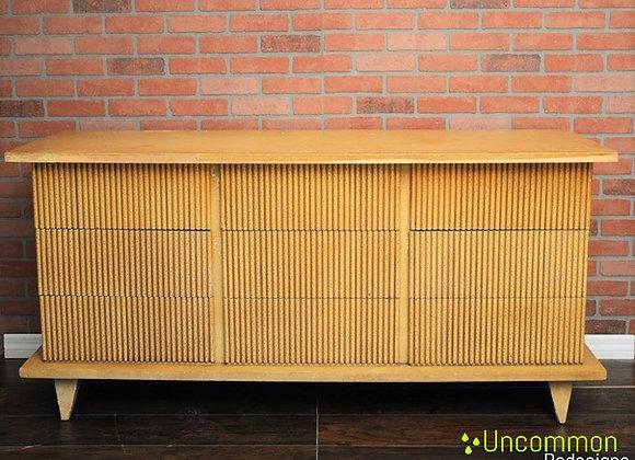 1950's American of Martinsville Nine Drawer Bamboo Dresser Mid Century