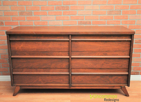 Mid Century Six Drawer Dresser