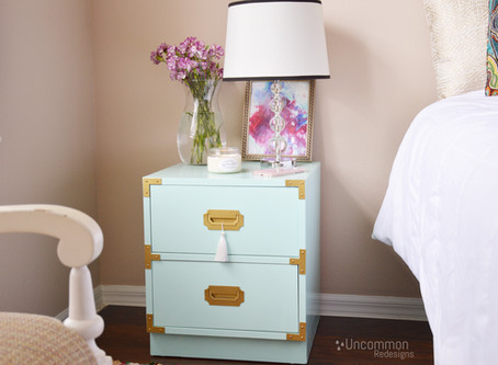 Mint Green Campaign Nighstand