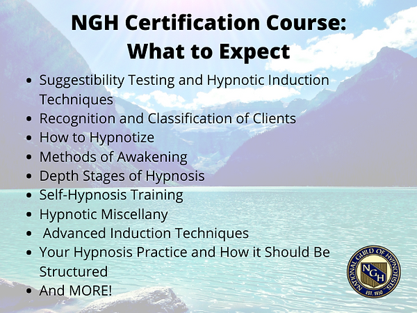 What You'll Learn during NGH Certificati