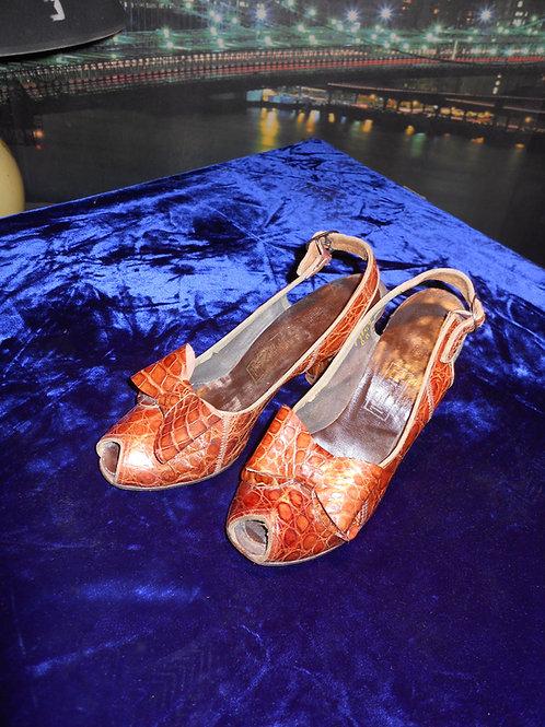 1940's aligator shoes