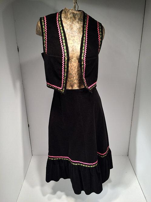60s dress and vest