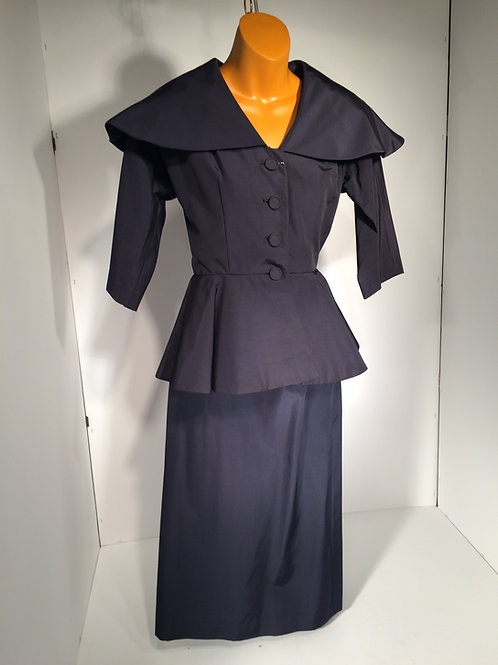 jacket and skirt  navy blue
