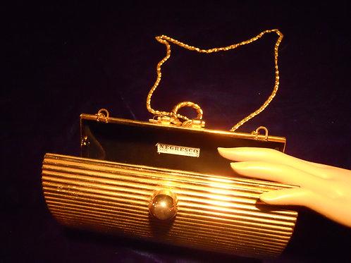 50's brass purse