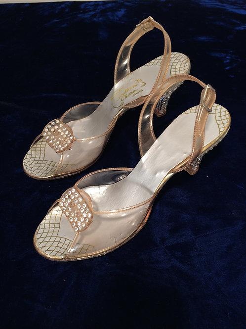 1940's lucite shoes