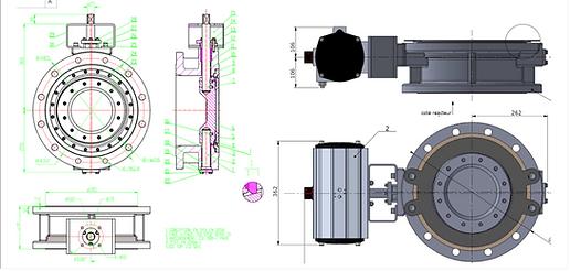 Ivaltec BV03 triple offset butterfly valve bodycote seat coating 900HV application abrasive powder petrochemical-chemical