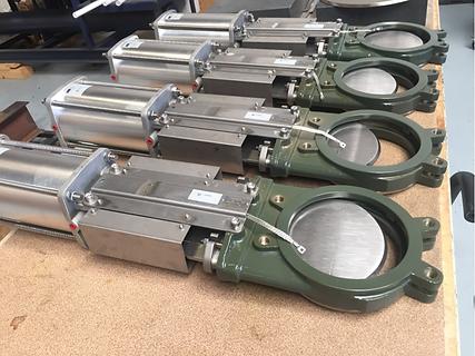 Valtec knife gate valve KG01 unidirectional halar coating for abrasive powder powdery