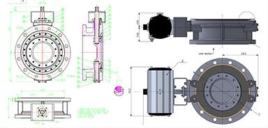 Ivaltec BV03 triple offset butterfly valve bodycote seat coating 900HV application of abrasive powder powdery