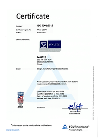 Ivaltec certification ISO 9001