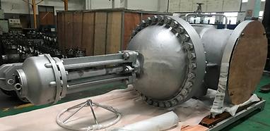 Ivaltec gate valve GV30 high temperature steam petrochemical plant application