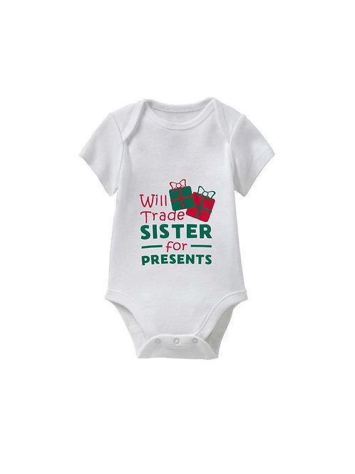Trade Sibling Christmas Onesie - Babies