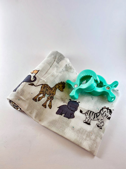 Baby Swaddle with Pram Clips